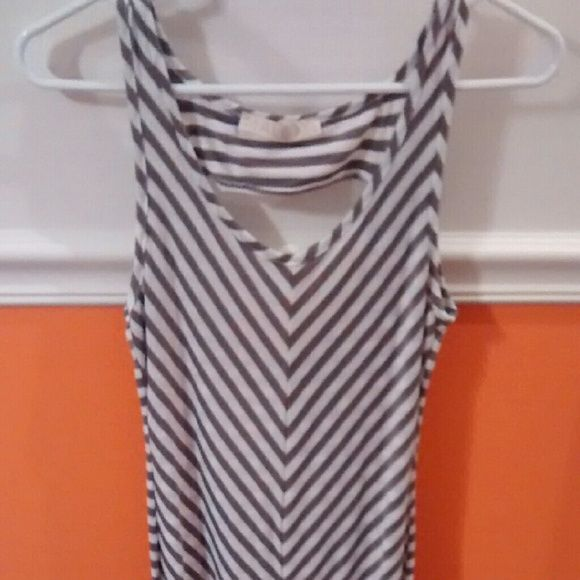 Soft Striped Maxi Dress This dress is super comfortable and has only been worn once. Perfect Condition and great for any occasion. Dresses Maxi