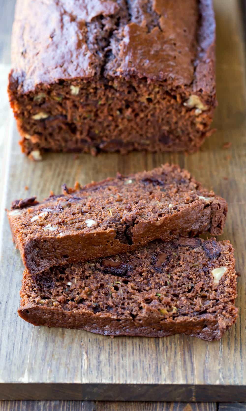 chocolate zucchini bread  recipe  chocolate zucchini