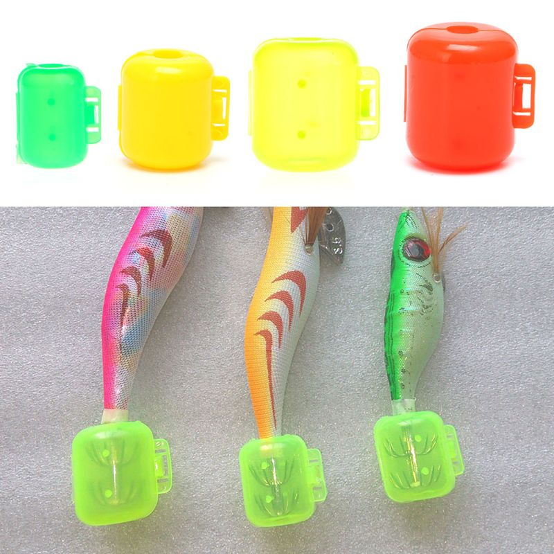 10pcs 4 Sizes Fishing Hook Protector Covers Fish Squid Jig Hook Caps Case Holder