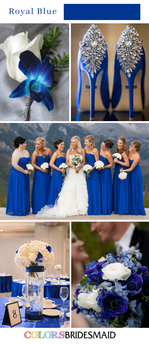 Fabulous Fall Wedding Colors Palettes in Shades of Blue-2 3