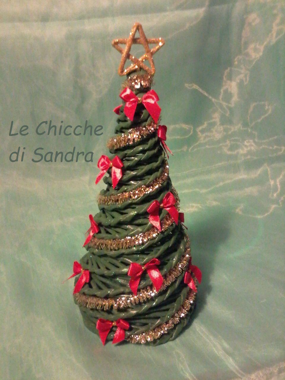 Albero Di Natale Con Cannucce Di Carta.Albero Di Natale Con Cannucce Di Carta Christmas Ornament Alberi