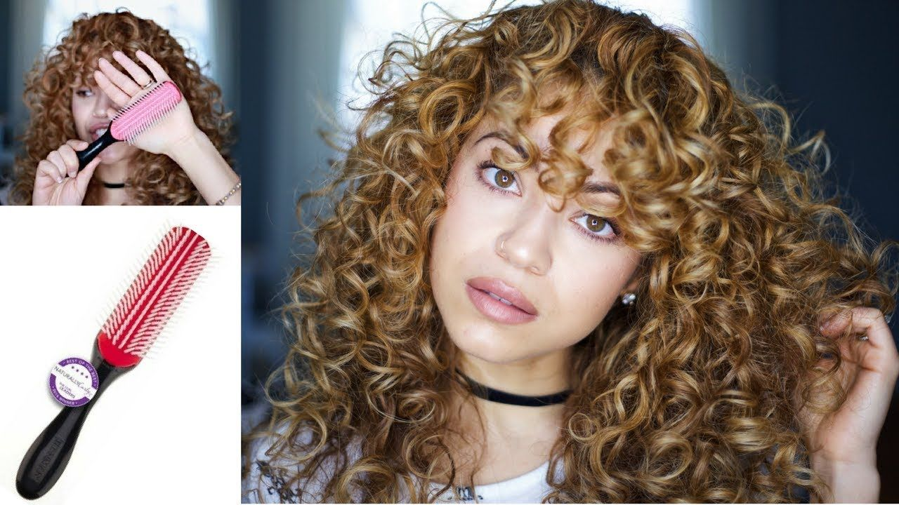 Why I Use The Denman Brush Curly Hair Curly Hair Styles Denman Brush Curly Hair Care