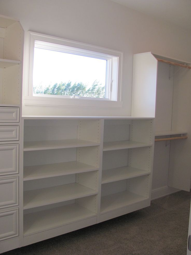 Walk In Closets With Windows Window In Walk In Closet Master Bedroom Diy Master Bedroom Closets Organization Bedroom Cabinets