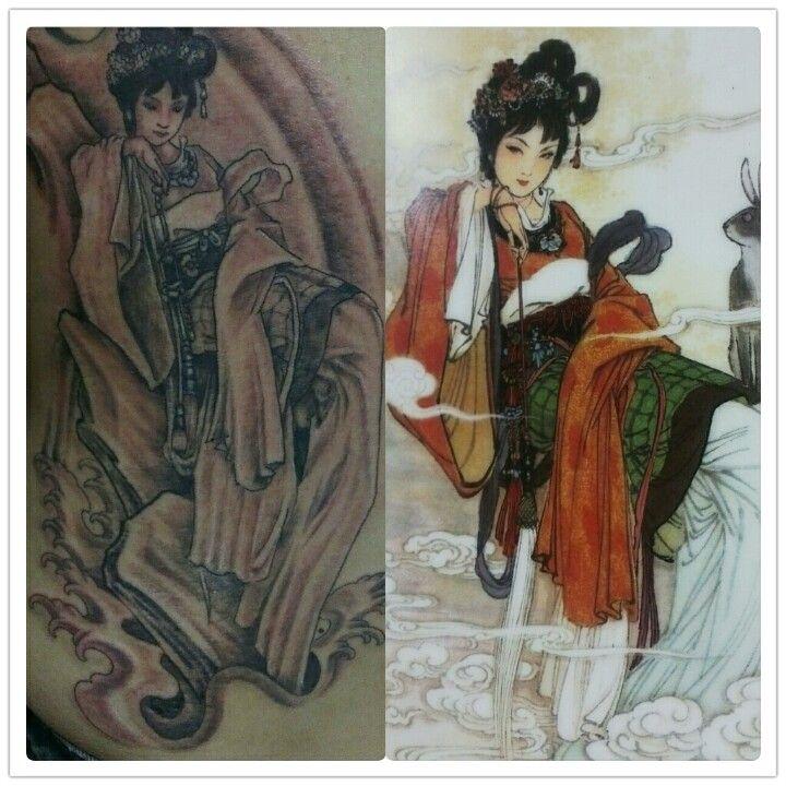 #chinese angel #tattoo