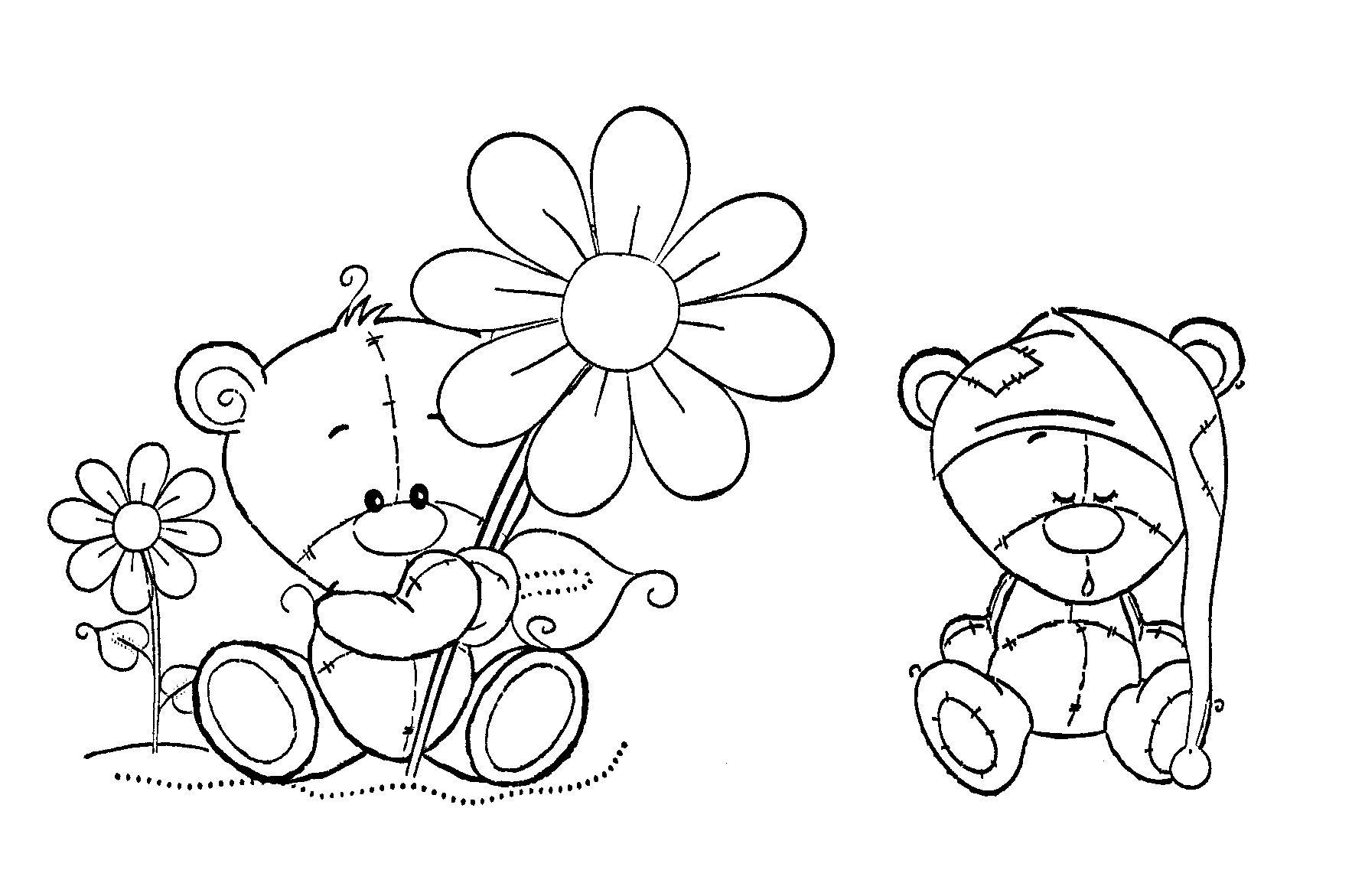 cute teddys | ausmalbilder, ausmalen, bilder