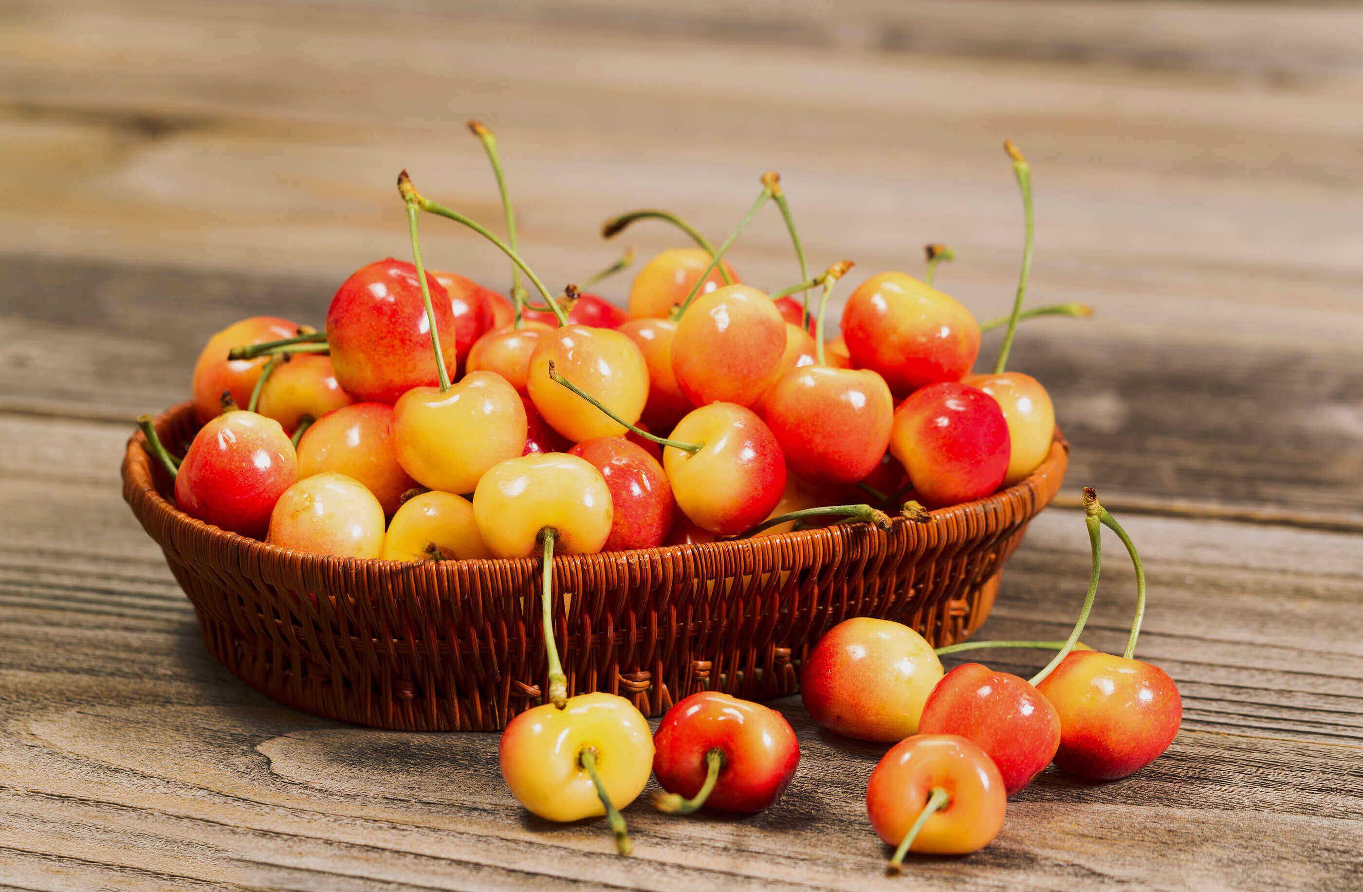 7 Secrets Of Rainier Cherries Stemilt Rainier Cherries Sweet Cherries Cherry Recipes