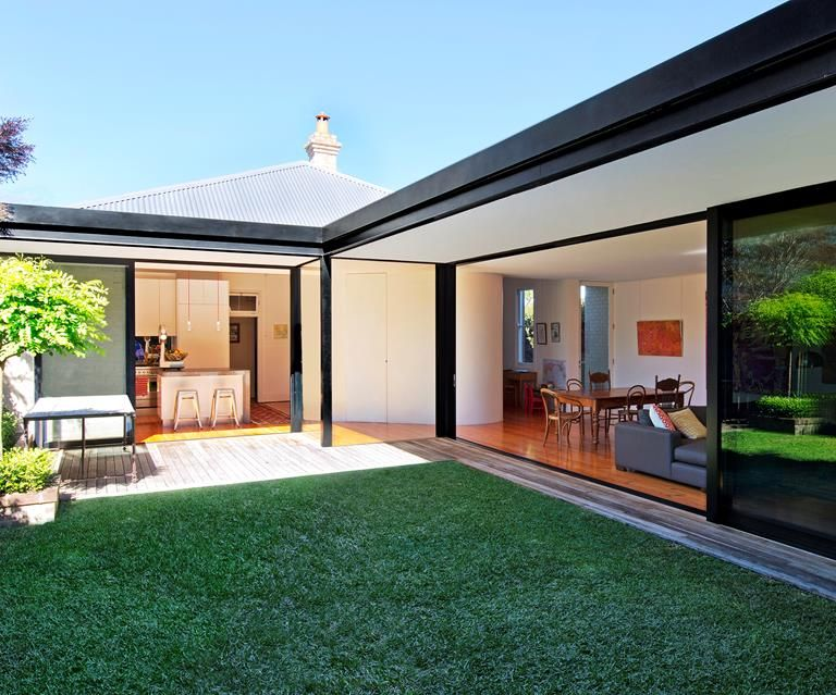 L Shaped House Extension L Shaped House Bungalow House Design