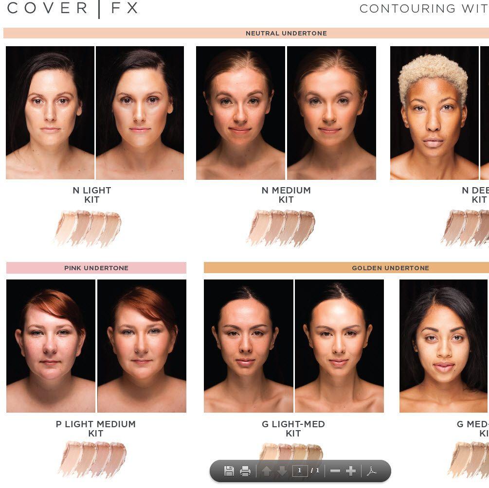 Contour Kit COVER FX Sephora Closest nontoxic cream