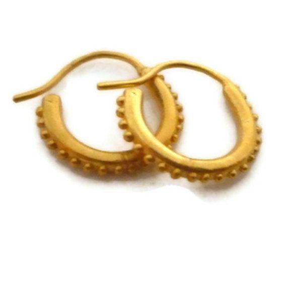 18k Gold Vermeil Hoop Earrings Small Huggie Hoops Tiny On Etsy 95 00