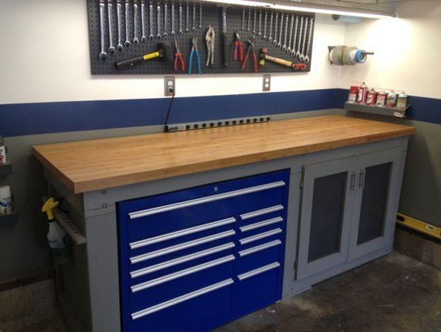 Workbench For Garage1 Garage Ideas With Images Garage Work