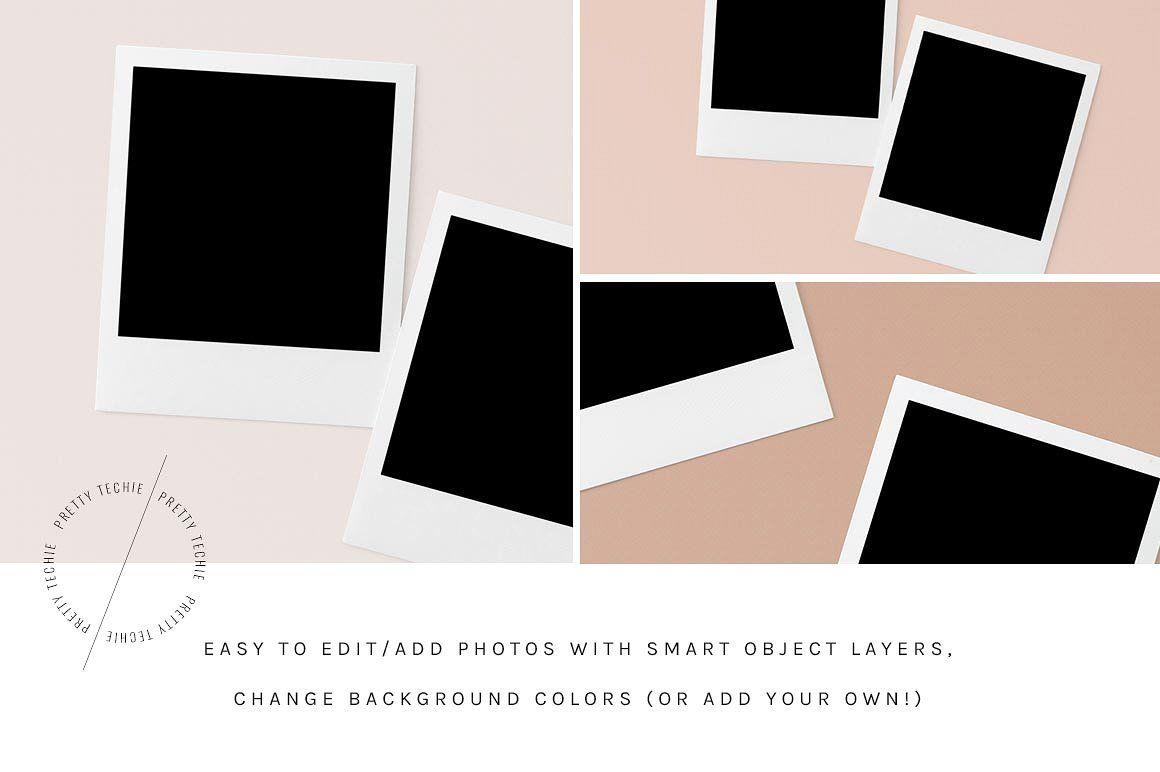Square Polaroid Mockup Bundle Psd Product Mockups 2 Professional Business Card Design Business Card Design Card Design