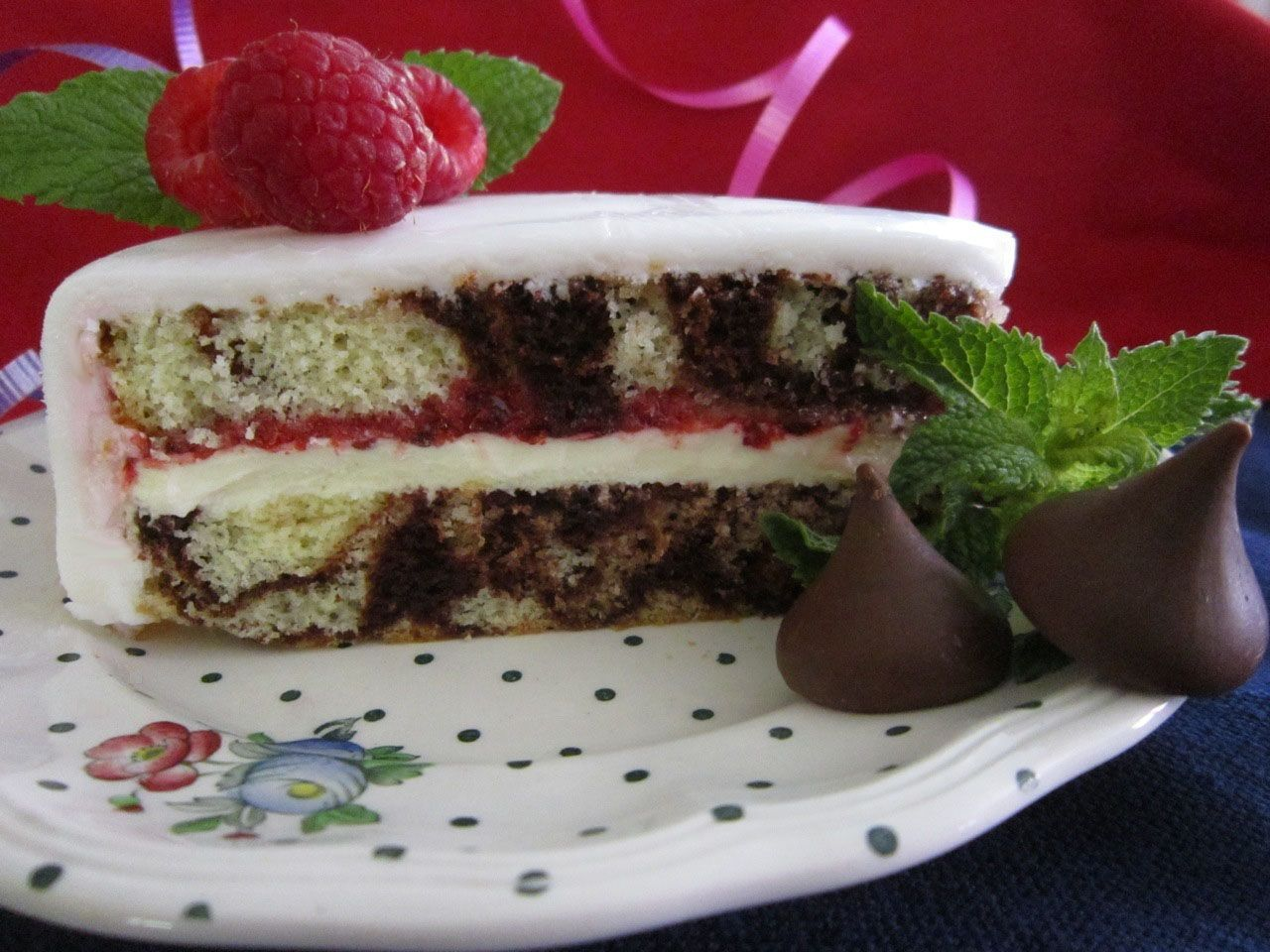Marble Cake With Raspberry Amp Cream Filling How To Make