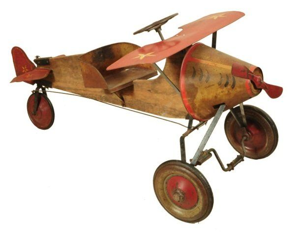 Antique Airplane Tricycle : Pedal airplane antique bucket nose typically more than