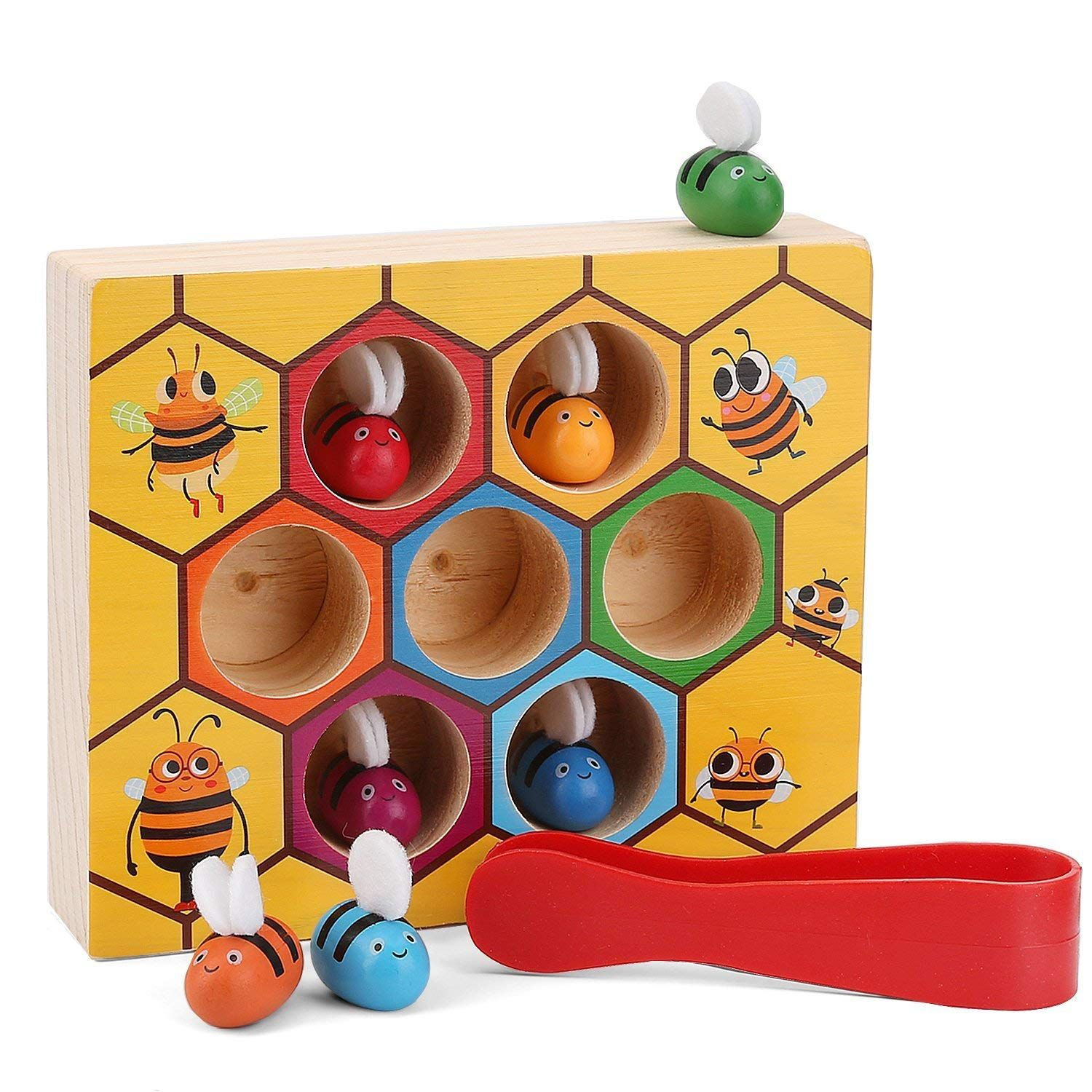 Amazon Xrexs Toddler Bee Hive Preschool Wooden Toys