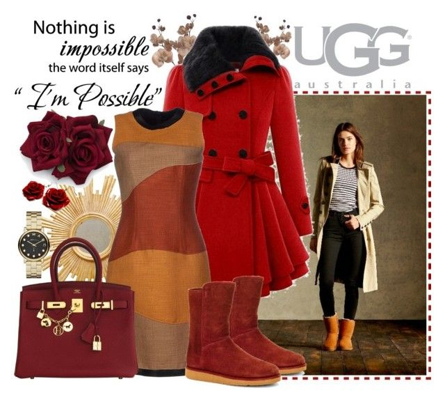 """Boot Remix with UGG : Contest Entry"" by eernaa ❤ liked on Polyvore featuring UGG Australia, Worlds Away, Proenza Schouler, Hermès, Marc by Marc Jacobs and uggaustralia"