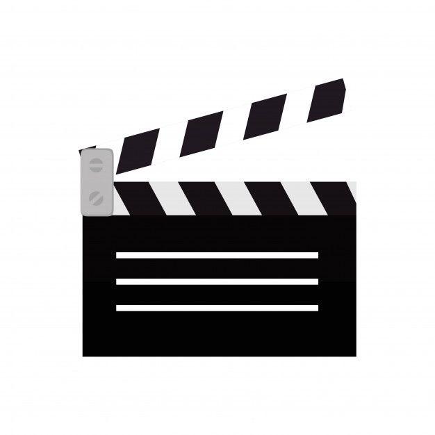 Clapper Film Movie Icon Design 로고 디자인 스티커