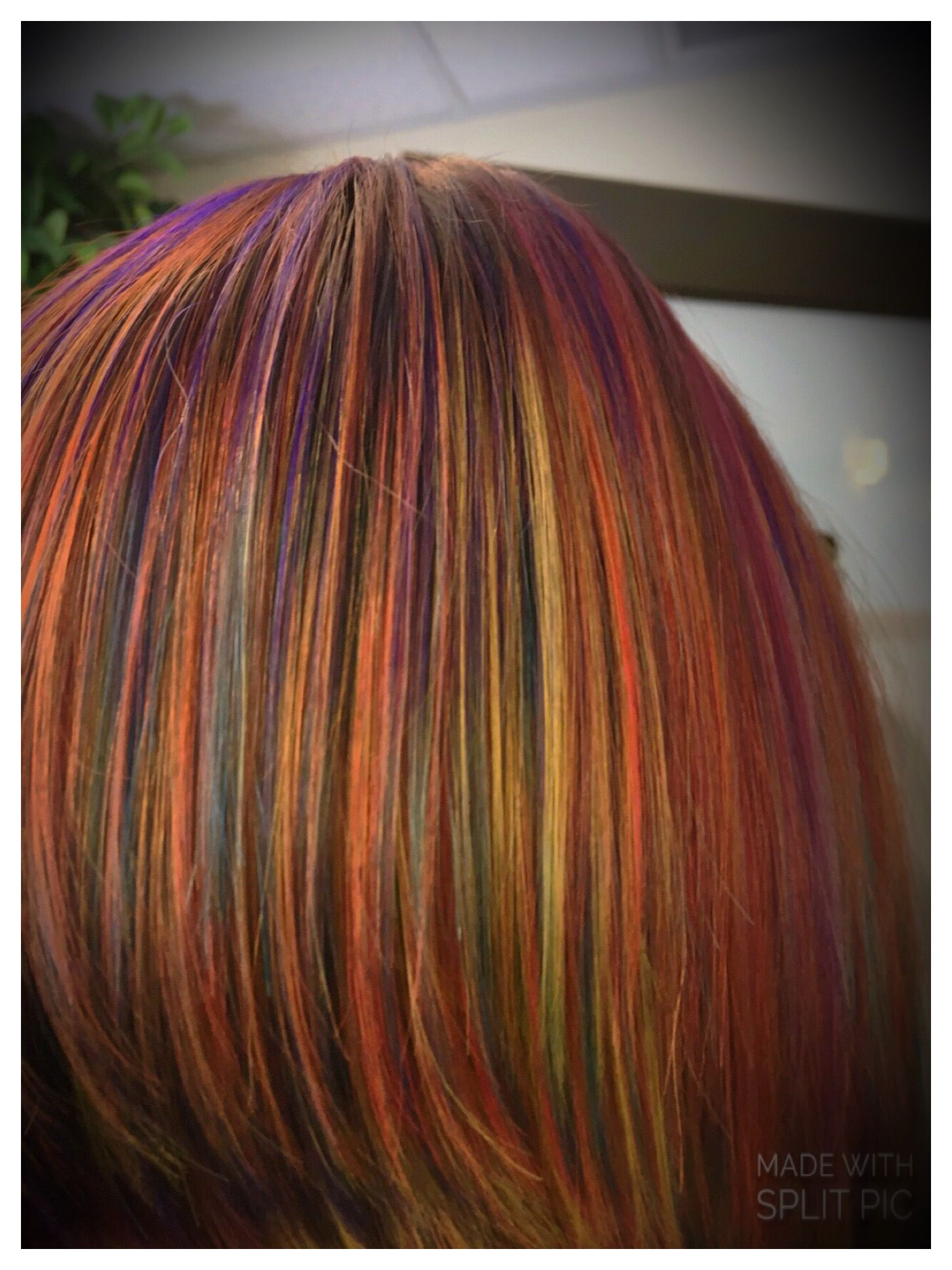 Autumn 🍂 rainbow 🌈 Long hair styles, Hair studio, Hair