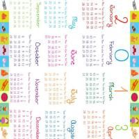 Kids Colorful Blocks 2013 Calendar