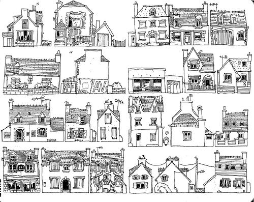 bretagne_houses_01 Dessin, Dessins maison et Maisons
