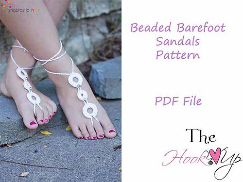 Beaded Barefoot Sandals pattern by Aimee Nelson | Sandalias, Varios ...