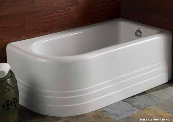 Bow Corner Tub With Rounded Front And Side Skirt With Images