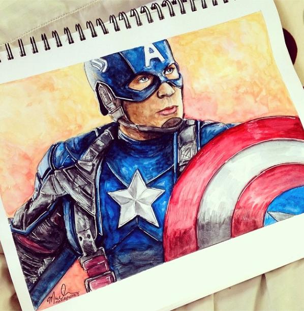 Captain America 3 Facedrawing Disney Drawings Avengers Drawings Marvel Art