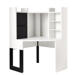 Hummingbird Madison Corner Workstation White | Officeworks ...