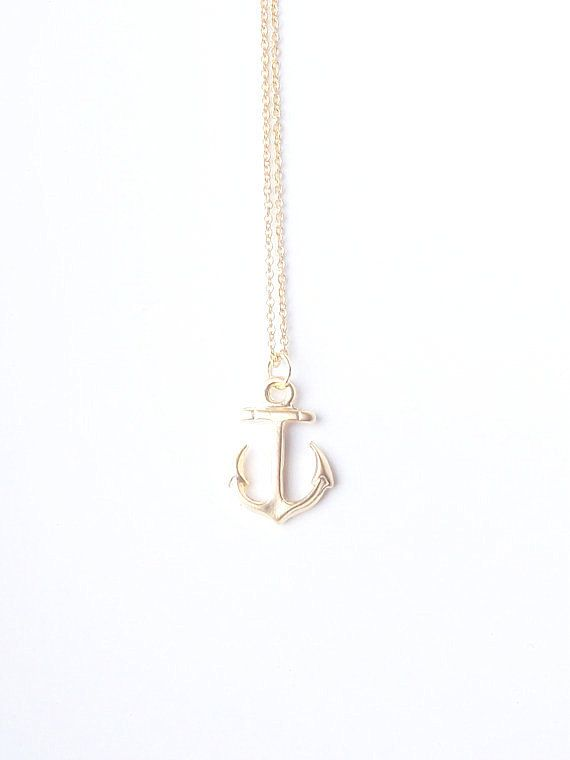 Gold Anchor Necklace 14K Gold Filled Chain Dainty Gold Necklace