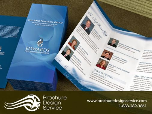 Sample TriFold Brochure Design For Financial Group  Posts