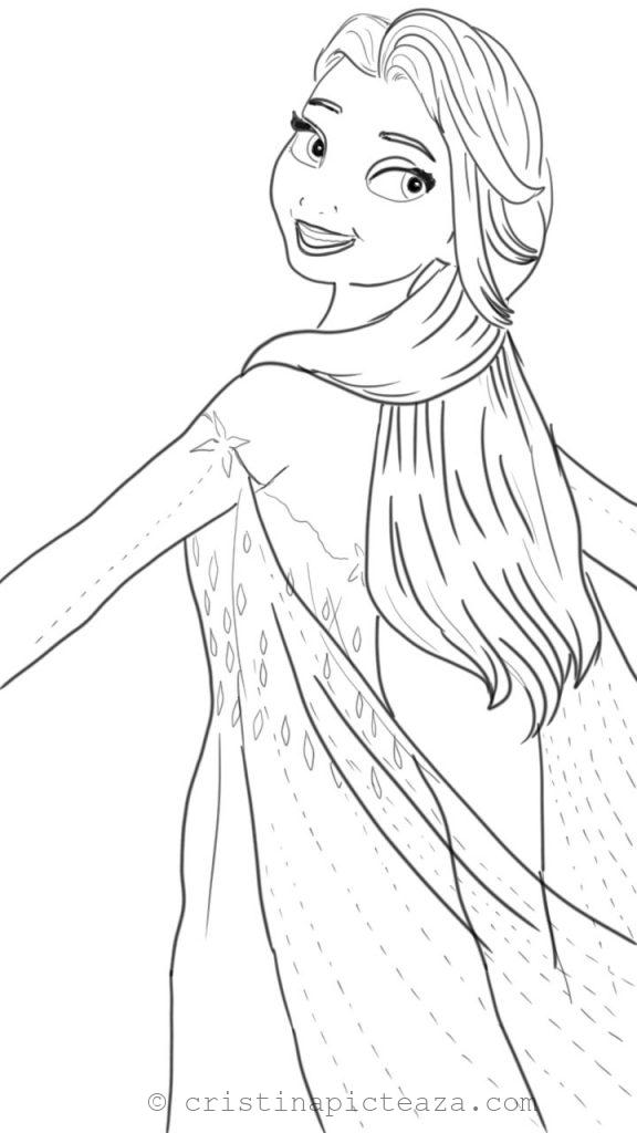 Coloring Pages With Elsa In White Dress Frozen 2 Cristina Is Painting Frozen Coloring Pages Elsa Coloring Pages Frozen Coloring