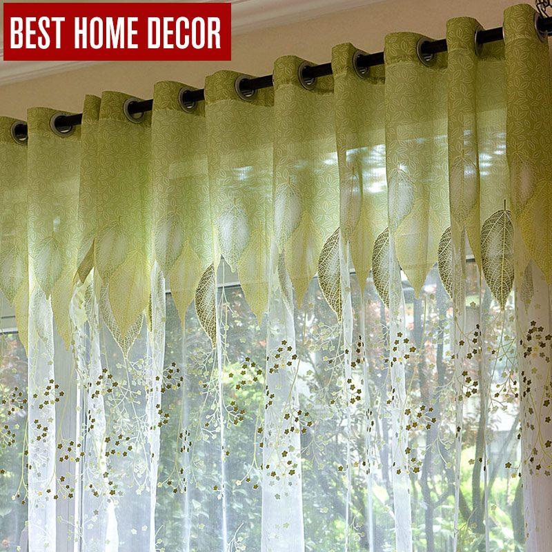 BHD 얇은 명주 창 커튼 거실 침실 부엌 현대 얇은 명주 그물 커튼 ...