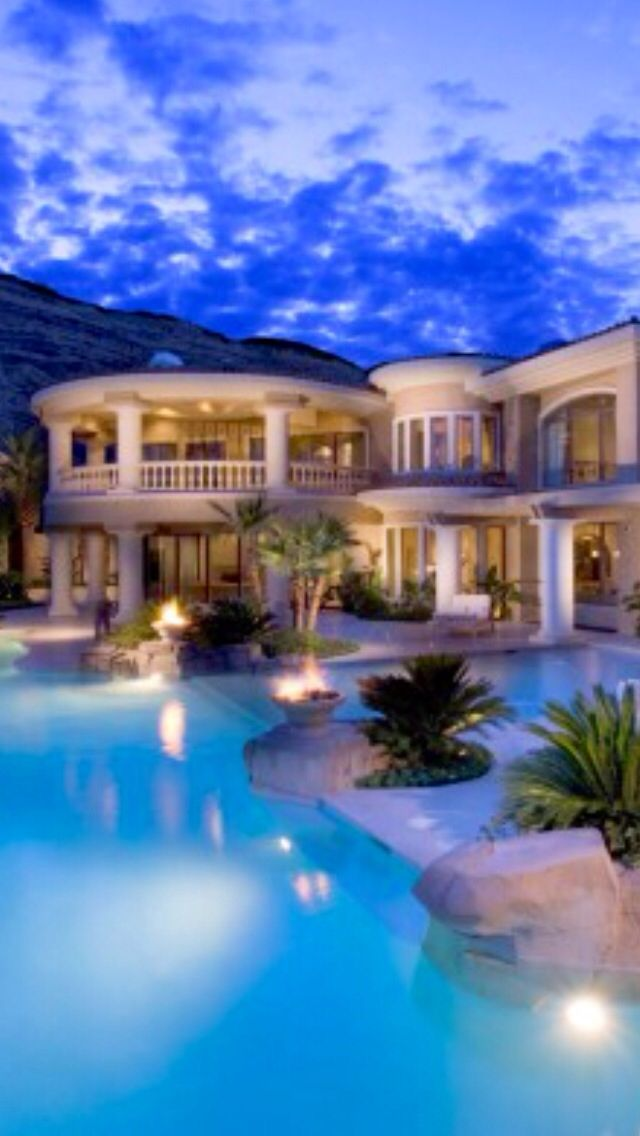 Beachfront Luxury Modern Home Exterior At Night: Mansions Luxury, Fancy Houses, Mansions