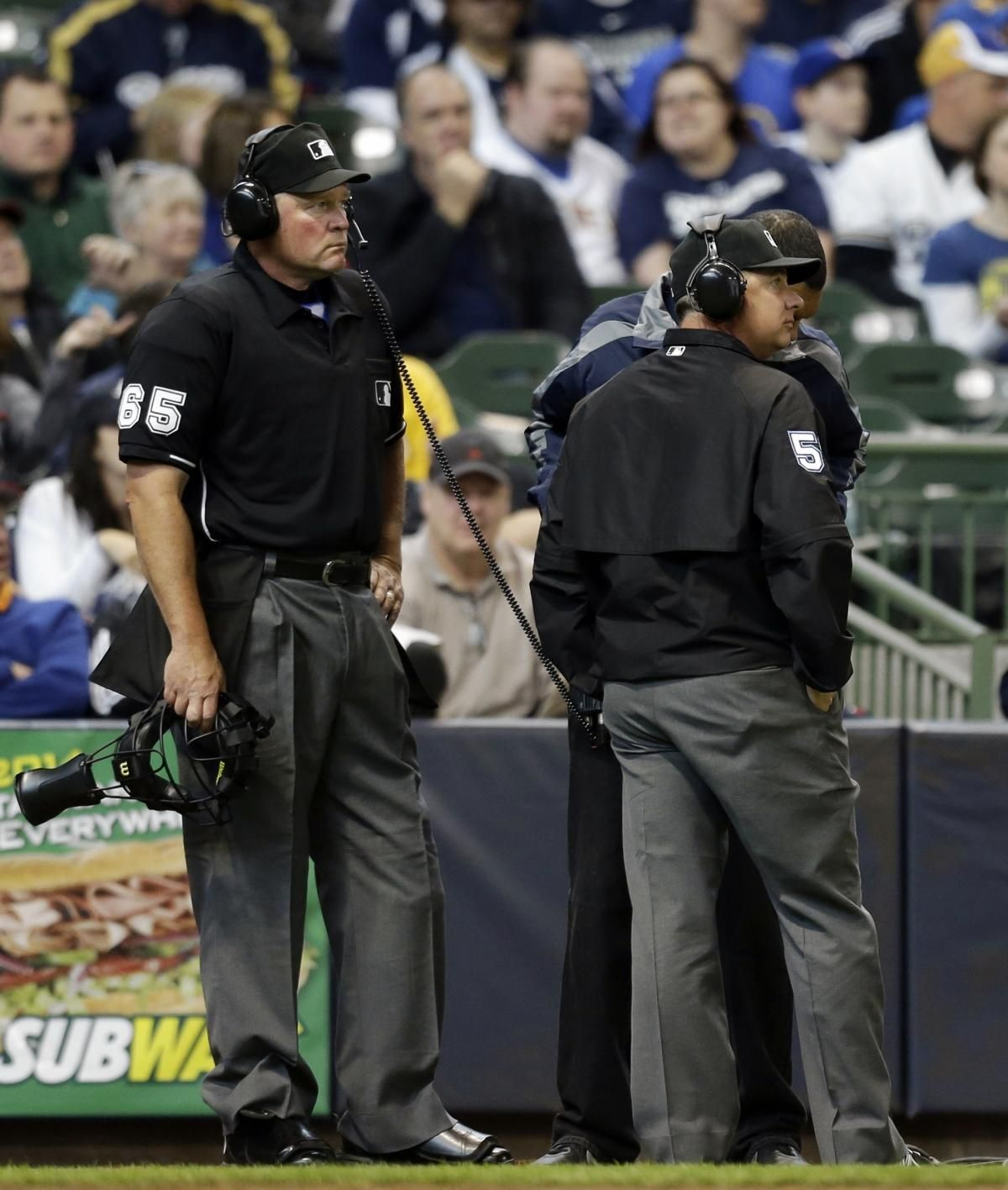 Mlb Umpire S Call Overturned For First Time Using Expanded Instant Replay Opening Day Baseball High School Baseball Replay