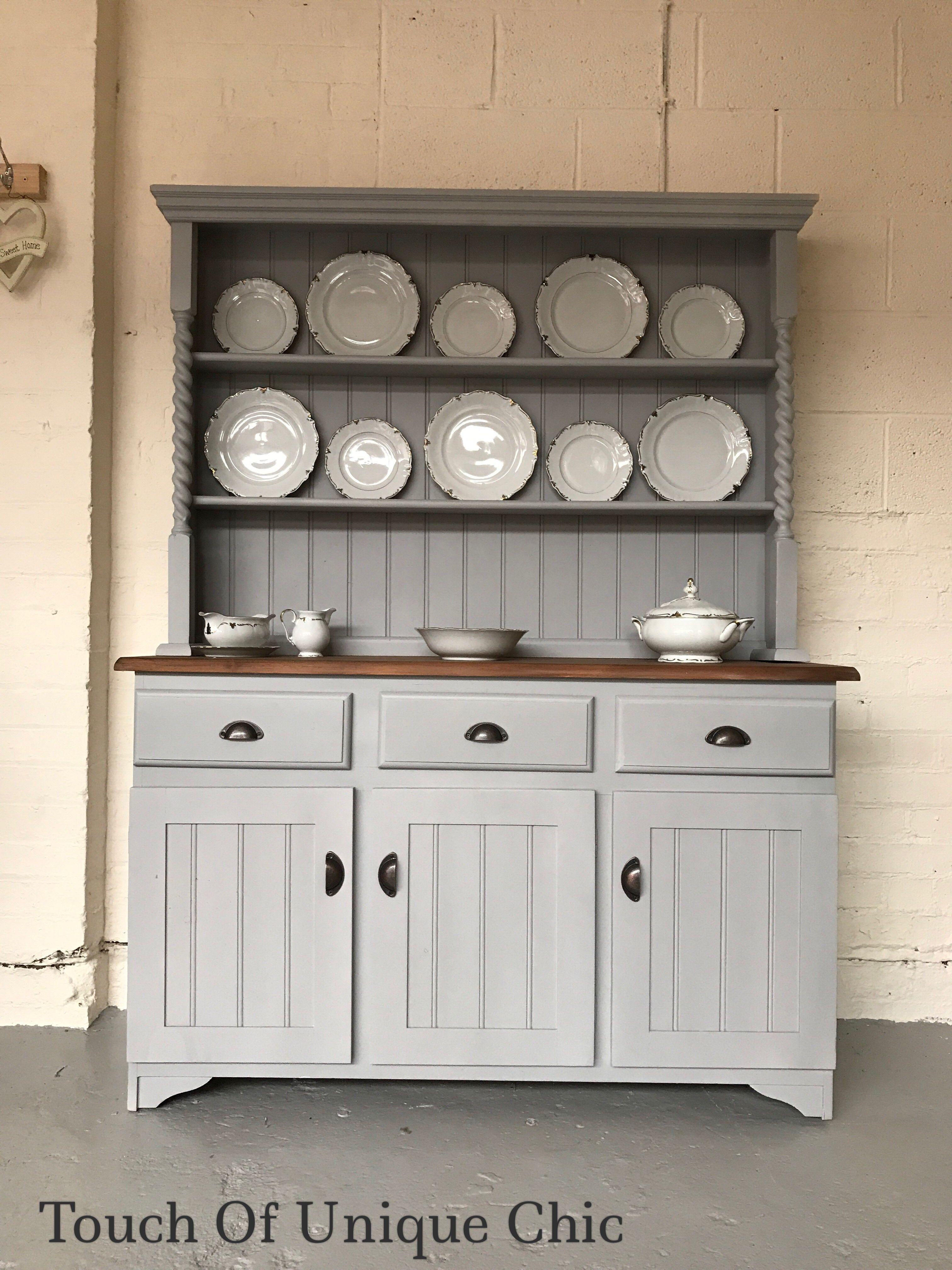 Painted Welsh Dresser Grey Cup Handles