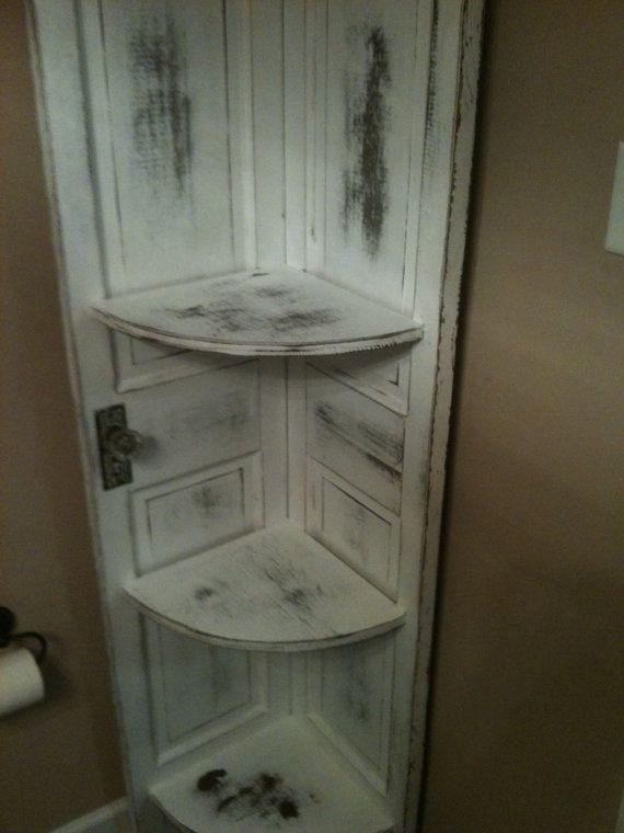 Corner Cabinet Made From Old Doors Etsy Old Doors Old Door Projects Doors Repurposed