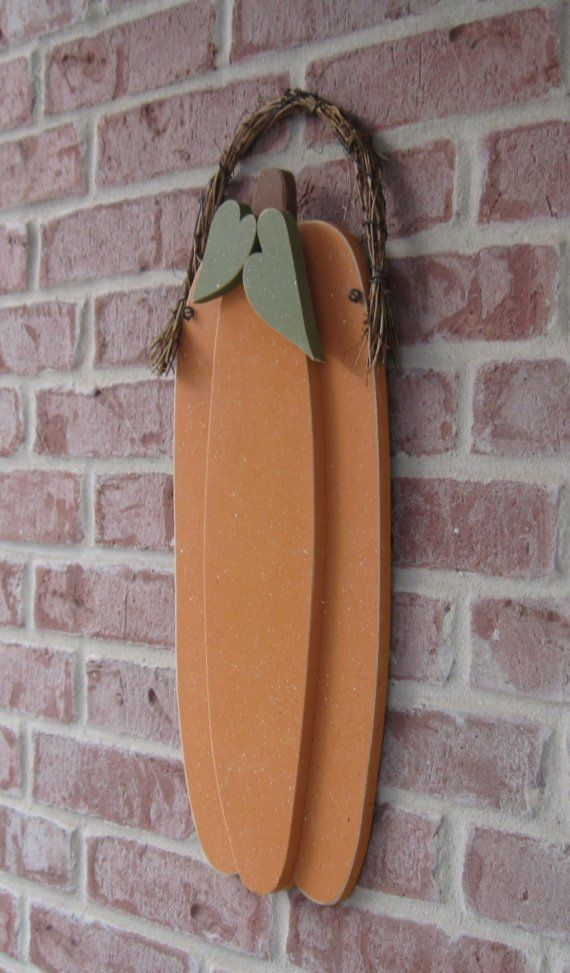 TALL HANGING PUMPKIN for Fall Autumn harvest wall and by lisabees