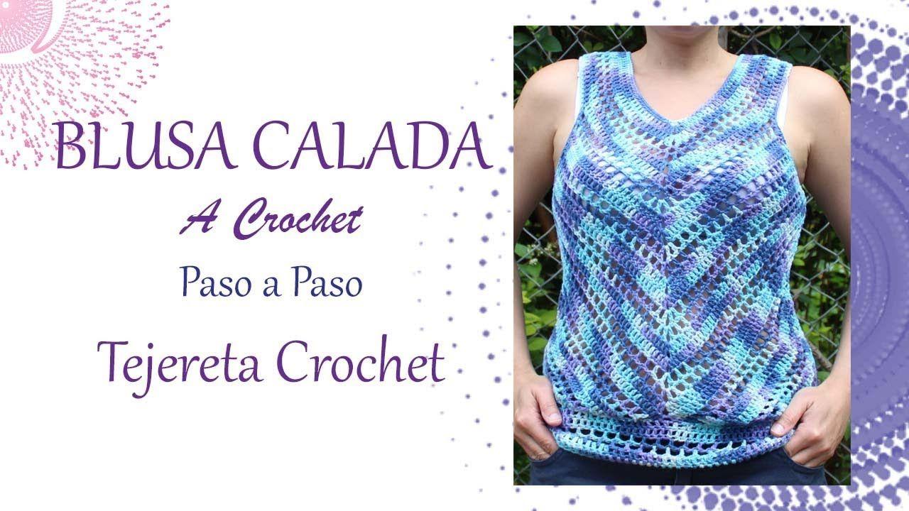 Blusa Calada a Crochet paso a paso | blusas | Pinterest | Crochet ...