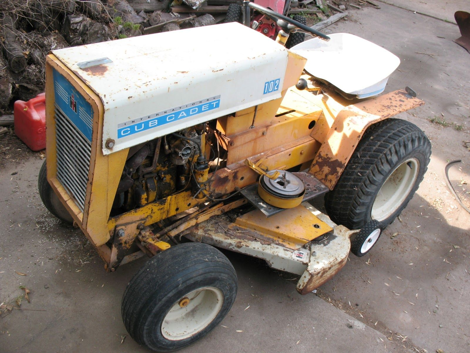 Cub Cadet 102-- great little tractor--all cast iron  This one's
