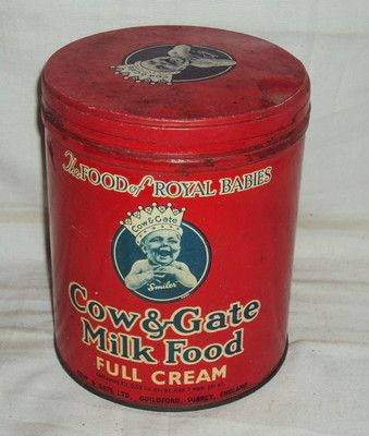 VINTAGE COW AND GATE MILK FOOD TIN