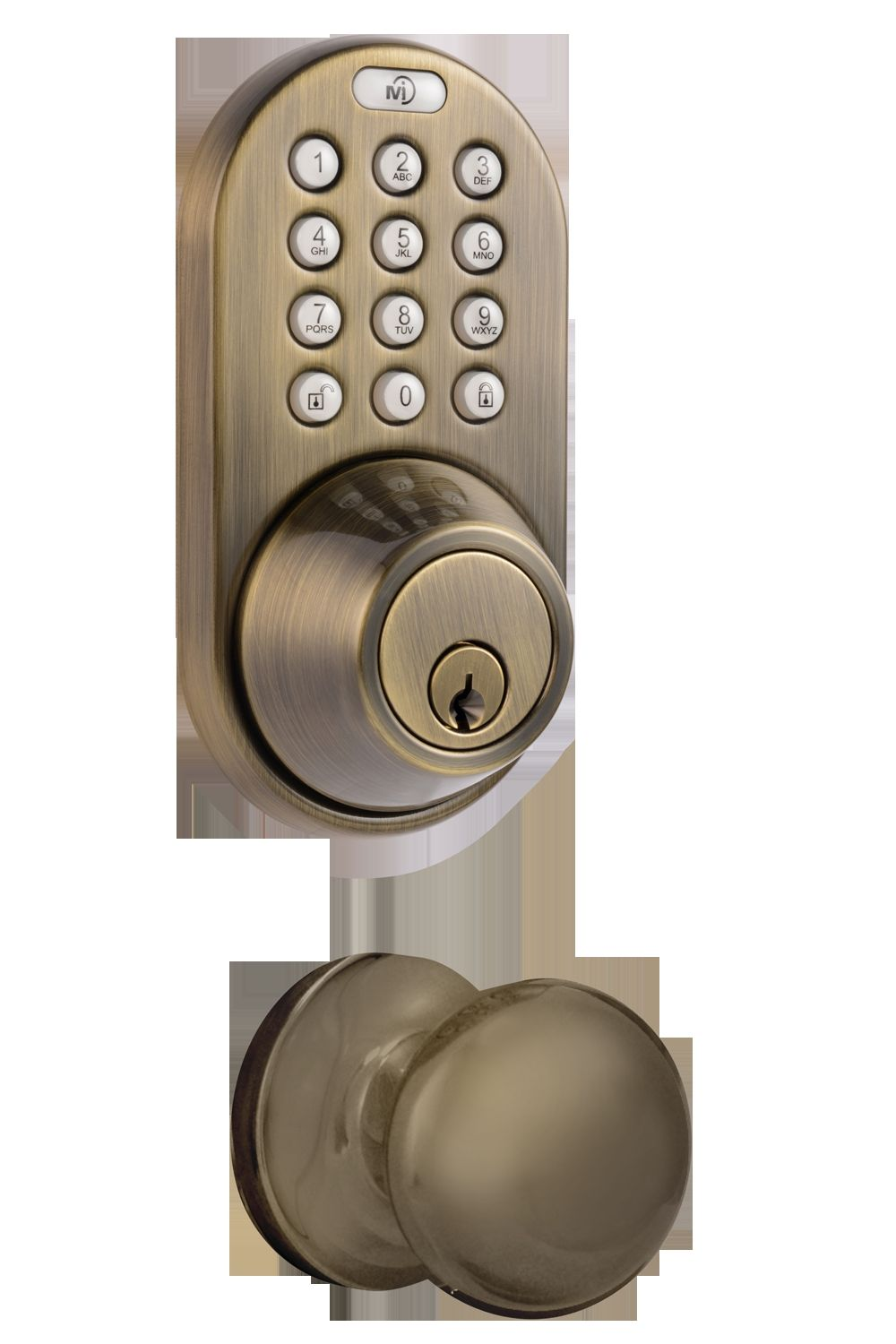 Remote Controlled Keyless Entry With Door Knob