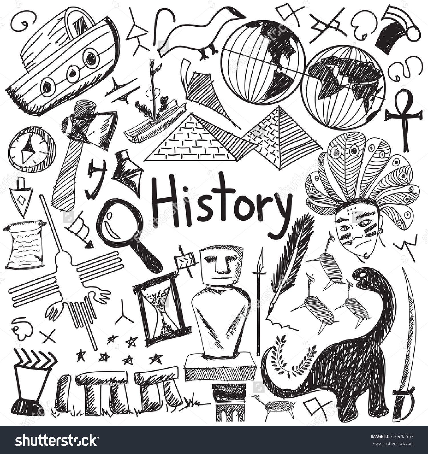 Photo of Geschichtsunterricht Thema Handschrift Gekritzel Symbol des Wahrzeichens Ort Kul…
