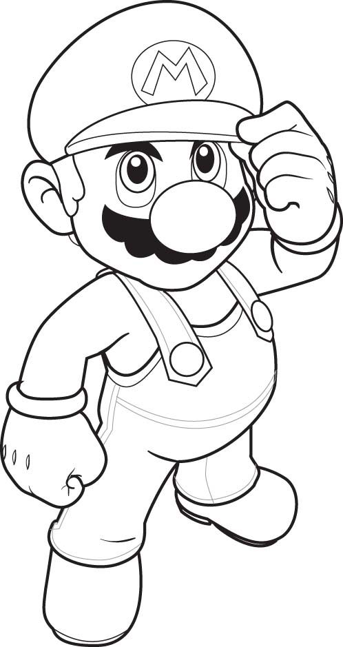 printable coloring pages mario coloring pages to print - Mario Coloring Pages To Print