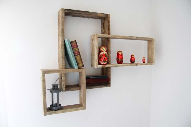 Etag re murale devi en bois de palette recycl decoration pinterest mei - Decoration etagere murale ...