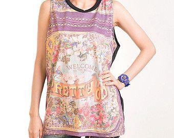 a396235a7b75c Panic At The Disco Pretty Odd Punk Rock Muscle Tee Shirt Tops Tank Women  Girl Sz S
