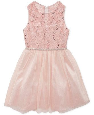 Rare Editions Girls' Lace-Top Dress - Girls 7-16 - Kids & Baby ...