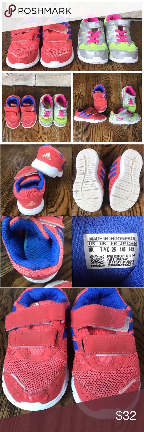Toddler Adidas and Nike Size 8 Shoe
