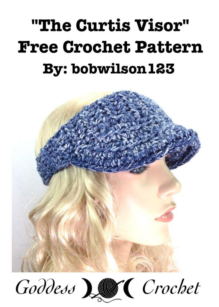 The Curtis Visor - Free Crochet Pattern   Accesorios   Pinterest ...