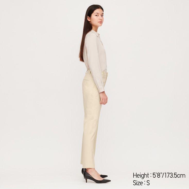 UNIQLO Women's Ezy Ankle-length Pants, Beige, XXS