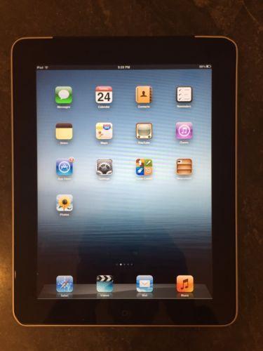 Apple iPad 1st Generation 32GB Wi-Fi  3G (AT&T) 9.7in - Black MC496LL