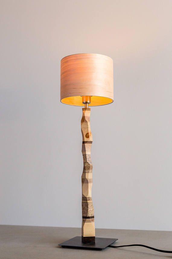 Bedside Table Lamp Wooden Bedside Lamp Desk Lamp Veneer Lamp Wooden Lamps Design Table Lamp
